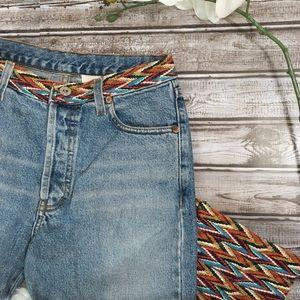 EMBROIDERED DENIM High Waist Blue Jeans Size 4